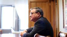 Finance Minister Jim Flaherty in his Parliament Hill office September 19, 2013. (Dave Chan/Special to The Globe and Mail)