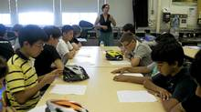 Students receive instruction from Urban Cycling Consultant Yvonne Bambrick (Michelle Siu for The Globe and Mail/Michelle Siu for The Globe and Mail)