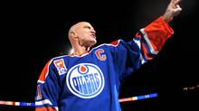 Mark Messier, seen in this 2007 photo when honoured by the Edmonton Oilers, is about to be named general manager of the Canadian team for the 2010 world hockey championship. (Tim Smith/2007 Getty Images)
