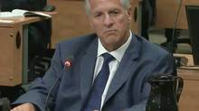 Tony Accurso testifies before the Charbonneau Commission on Sept. 2, 2014, in a still from the video feed. (The Canadian Press)