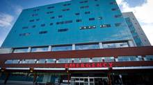 The Surrey Memorial Hospital emergency department. (DARRYL DYCK For The Globe and Mail)