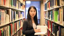 SFU Chemistry student Bixia Wang at SFU's Burnaby campus on December 15th, 2011. (Simon Hayter For The Globe and Mail)