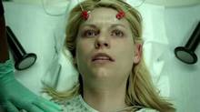 Carrie (Claire Danes) receives electroshock therapy in Homeland.