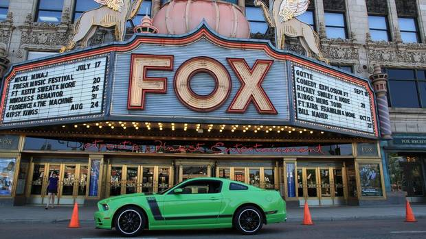The restored Fox Theatre on Woodward Ave. is a Detroit landmark. Opened in 1928, it was the first theatre designed with a speaker system for the playing of movies with sound. (Peter Cheney/The Globe and Mail)