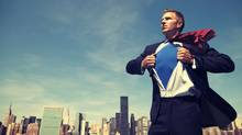 A businessman superhero (iStockphoto)