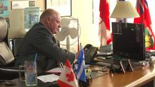 A new video for Toronto Mayor Rob Ford's re-election campaign shows his City Hall office, despite election rules that prohibit use of city infrastructure for campaign purposes. (ROBFORDFORMAYOR.CA)