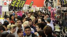 Shoppers browse at Target on the Thanksgiving Day holiday in Burbank, California in this November 22, 2012, file photo. (JONATHAN ALCORN/REUTERS)