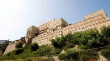 The Ennis House, completed in 1924, is the fourth, last and largest of Frank Lloyd Wright's so-called textile block residences in Los Angeles. The asking price is $17.3-million (U.S.). (Mario Anzuoni/Mario Anzuoni/REUTERS)