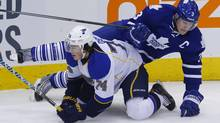Dion Phaneuf faces the toughest matchups of any defenceman in the league. (Mark Blinch)