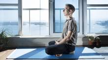 Jeff Golfman starts every day with yoga. 'It helps ground me because life is crazy.' (Peter Power for The Globe and Mail)