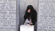 A still at Rebbe Schneerson's grave from the documentary Shekinah,directed by Abbey Jack Neidik.