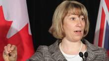 Ontario Education Minister Laurel Broten addresses a news conference in Toronto, Monday, April 9, 2012. (Colin Perkel/Colin Perkel / CP)
