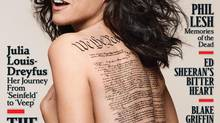 This undated photo released by Rolling Stone shows the cover of the April 24, 2014 issue of Rolling Stone magazine featuring actress Julia Louis-Dreyfus, photographed by Mark Seliger for Rolling Stone (Mark Seliger for Rolling Stone/AP)