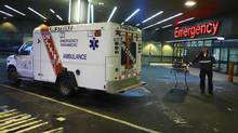 The union representing workers in B.C.'s ambulance service, among other health care services, are looking to avoid a strike like this one in 2009. (Jeff Vinnick for The Globe and Mail)