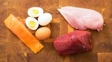 A diet that's too heavy-handed in protein can lead to weight gain and perhaps, as recent research suggests, more serious health risks. (grinvalds/Getty Images/iStockphoto)
