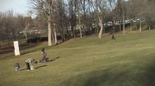 An online video produced by Normand Archambault, Loïc Mireault, Antoine Seigle et Félix Marquis-Poulin, shows the massive bird plucking an infant off the ground. The video has been acknowledged by its creators as a fake. (HO/THE CANADIAN PRESS)