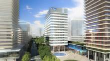 Accounting firm KPMG is set to become the lead tenant in an new office tower at the Vaughan Metropolitan Centre, a new urban core being built just north of Toronto. (Diamond Schmitt Architects)