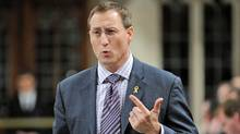 Defence Minister Peter MacKay speaks during Question Period in the House of Commons on May 11, 2012. (Sean Kilpatrick/The Canadian Press)