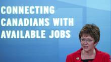 Human Resources Minister Diane Finley announces changes to Employment Insurance in Ottawa, May 24, 2012. (Adrian Wyld)