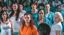 Nicole da Silva, left, and Danielle Cormack, centre, star in the prison drama Wentworth, which airs Sunday, 9 p.m. on APTN.