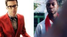 Mayer Hawthorne (l) and Aloe Blacc