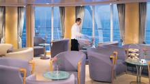Inside the Panorama Lounge of the Silver Whisper cruise ship.