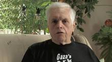 Former NDP MP Jim Manly makes a statement in a pre-recorded video released on YouTube on Saturday Oct. 20, 2012, after the Estelle was commandeered by Israeli troops. (CanadaBoatGaza/THE CANADIAN PRESS)