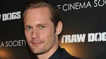 """NEW YORK, NY - SEPTEMBER 15: Actor Alexander Skarsgaard attends The Cinema Society screening of Screen Gems' """"Straw Dogs"""" at the Tribeca Grand Hotel on September 15, 2011 in New York City. (Stephen Lovekin/Stephen Lovekin/Getty Images)"""