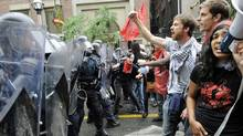 Citizens clash with police during the G20 summit in Toronto. (Kevin Van Paassen/The Globe and Mail)