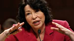 In this July 16, 2009 file photo, President Barack Obama's Supreme Court nominee, Sonia Sotomayor, appears before the Senate Judiciary Committee on the fourth day of her confirmation hearing, on Capitol Hill in Washington