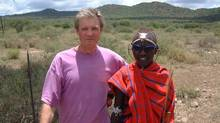 Henry Gold and Maasai warrior in Kenya.