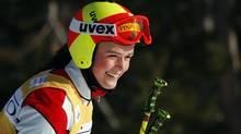 Canadian national ski cross team member Marielle Thompson, from Whistler, B.C., trains at Nakiska ski resort in Kananaskis, Alta., Thursday, Dec. 6, 2012. (The Canadian Press)