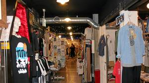 The bazaar-like interior of Shimokitazawa Garage Department.