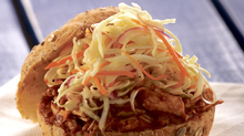 Chef Jo Lusted's Pulled Pork Sandwich from her cookbook Dish Do-Over. (Mike McColl./Harper Collins)