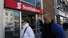 File photo of a Scotiabank branch in Toronto. (Deborah Baic/The Globe and Mail)