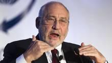 Joseph Stiglitz addresses an audience in Toronto on Tuesday. (Tim Fraser/Tim Fraser)