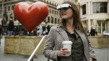 In this Feb. 2, 2017, photo, Yvonne Felix wears eSight electronic glasses during a visit to San Francisco. (Eric Risberg/AP)