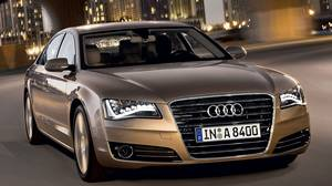The 2011 Audi A8 luxury sedan is Audi's flagship. The L (long) version goes on sale in November, to complement the new A8 now in dealerships.