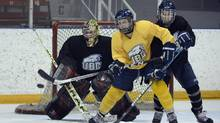Danielle Dube is seen here ahead of the CIS Women's hockey tournament in 2013 for the University of British Columbia (Fred Lum/The Globe and Mail)