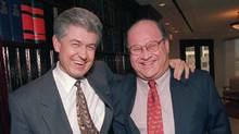 Gordon Stollery, right, with John Hagg in 1997. (The Canadian Press/The Canadian Press)