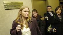 Brenda Waudby leaves an inquiry hearing in Toronto in 2007. (Kevin Van Paassen/Kevin Van Paassen/The Globe and Mail)