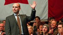 B.C. MP Nathan Cullen waves to supporters after the final NDP leadership debate in Vancouver on March 11, 2012. (BEN NELMS/Ben Nelms/Reuters)