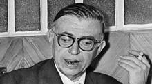 Studying philosophy, like the work of Jean-Paul Sartre, helps students to think. (-)
