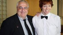 Ottawa city councillor Allan Hubley with his son Jamie. (HO/THE CANADIAN PRESS)