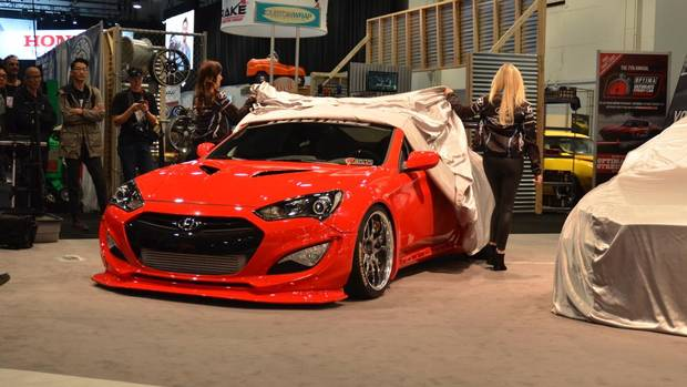 Genesis coupe customized by blood type racing inc todd kaho sema