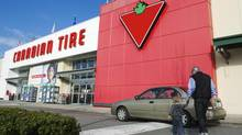 Customers arrive at the Canadian Tire store in North Vancouver. (ANDY CLARK/REUTERS)