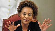 Governor-General Michaëlle Jean speaks to Domincan civil society groups in Santo Domingo on March 10, 2010. (Reuters)