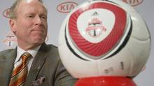 Kevin Payne, Toronto FC's newly-appointed club president and general manager attends a news conference in Toronto Wednesday November 28, 2012. Payne was formerly with MLS side DC United where he won four MLS cups. (Chris Young/THE CANADIAN PRESS)