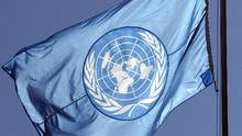 A United Nations flag, at its European headquarters in Geneva. (DENIS BALIBOUSE/REUTERS)