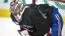 "Preparing for the Boston Bruins in the second round of the 2014 NHL playoffs, Montreal Canadiens goalie Carey Price says his teammates are ""tenacious and tough to play against."" (Paul Chiasson/THE CANADIAN PRESS)"